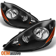 Fits 06 10 Sienna Halogen Type Black Headlights Front Lamps Replacement Lh Rh