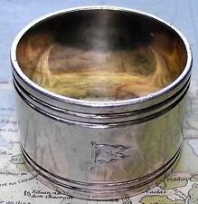 Old c1925 Anchor Shipping Line Elkington Napkin Ring No. S8 (Steerage Class)