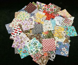 200 Vintage Antique Quilt Blocks Cotton Fabric 30s Era Squares Boston Common LOT