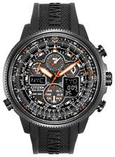 Citizen Eco Drive Navihawk A-T Black Dial Black Rubber Men's Watch JY8035-04E
