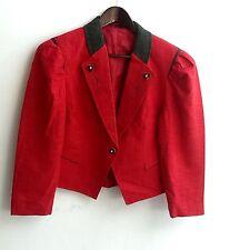 Damen Trachten Janker Jacke rot grün Gr. 40 v. Original Salzburger Tracht