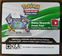 Pokemon Celestial Storm Elite Trainer Box Online Code Sun and Moon Rayquaza FAST