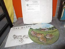"""Knowles UPLAND BIRDS OF NORTH AMERICA """" THE QUAIL """" Plate Wayne  Anderson"""