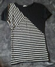 BLACK AND GREY NEW LOOK TOP..SIZE 12
