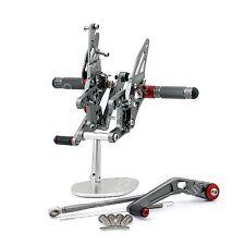 Commandes reculées Rearset Foot pegs Pour Honda CBR1000RR 2008-2012 Gray