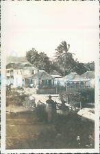 More details for 1940s st johns worker photo, st kitts wooden carib houses 5.2*3.2