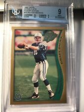 1998 Topps Action Flats Peyton Manning #K5 Kickoff Edition Rookie RC BGS 9 Mint