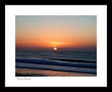 """Horton Sunrise"" framed print (Seascape, Wales, beach, sea, waves)"