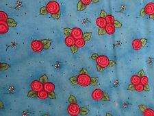 Kari Pearson SSI KP Kids cotton fabric posie flower blue half yard cut 1/2