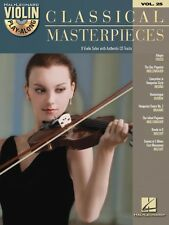 Classical Masterpieces Sheet Music Violin Play-Along Book and CD NEW 000842642