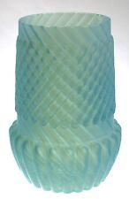 Northwood - CHRYSANTHEMUM SWIRL - Blue Satin Celery Vase