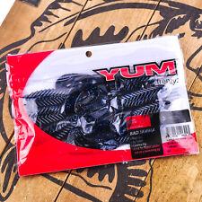 "YUM: Bad Jamma (4.25"" 7ct) Twin Curl Tail Jig Trailer Creature Bait BLK/BLU FLK"