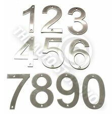 Stainless Steel House Numbers - No 6 - SCREW on House / Door / Building 10cm