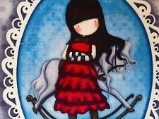 Panel tela gorjuss niña de algodón artesanía acolchado Caballo Mecedora
