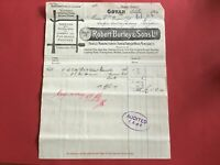 Robert Burley and Sons Handle Mfr Home & Foreign Wood 1906 Govan  receipt R33192