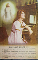 The Lost Chord (3) c1908 Christian Postcard Bamforth Unposted Undivided Poem