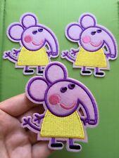 1 pcs Peppa Pig Patch embroidery SEW/IRON on around 3.5