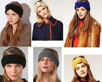 Beanie Girl Knit Crochet Headband Hair Band Ear Warmer Headwrap Turban Bow Wrap