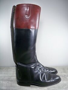 Vintage Leather Riding Pull On Marching Motorcycle Men's Biker Boots Size 9.5 D
