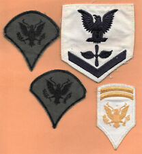 Lot 4 Patches Us Army Specialist Chevrons Eagle Embroidery Applique