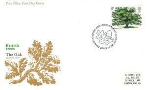 1973 Oak Tree, Post Office FDC with Stampex '73 SHS, Cat £10