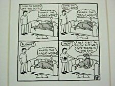 Funny Dog Cartoon Print by Rupert Fawcett - Dog Only Wants Treat - 86