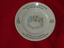 WEDGWOOD PETER RABBIT PLATE HIS MOTHER PUT HIM TO BED MADE CAMOMILE TEA 1993 H7