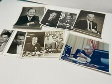 1960's Cbs Publicity Photo Lot, President Johnson and Other Political