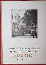 Associazione storica Alt-Wertheim ANNUARIO 1947 Wertheim Tauber Franchi Raro!
