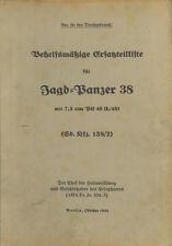WW2 German Wehrmacht Jagdpanzer 38 Hetzer Manuals and Handbooks - 20 in Total!