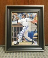 Frank Thomas Signed Framed 8x10 Chicago White Sox Auto. PSA Certified. Big Hurt
