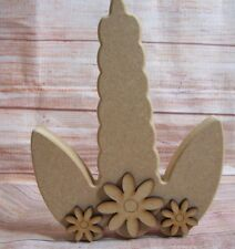 Unicorn Horn and Ears Craft Shape Mythical Various Sizes 2mm MDF Wood