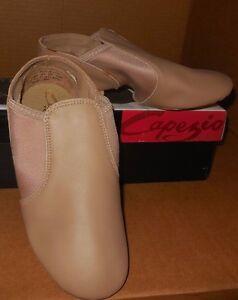 CAPEZIO LEATHER Caramel SPLITSOLE JAZZ Boots EJ2 Child/adlt sizes Slip On