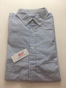 Vineyard Vines Whale Shirt Men's Button Down Long Sleeve XXL New Blues/White