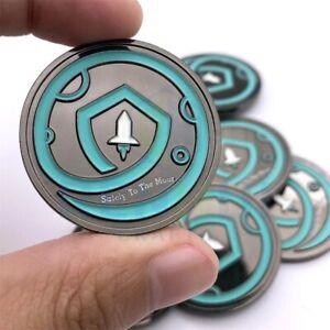 Safemoon Coin - Crypto Coin - Collectable Gift Glow In The Dark - Safe Moon