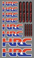 HRC HONDA RACING LOGO SHEET OF 16 GRAPHICS! MOTORBIKE STICKER RIM STICKER 005