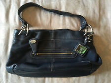 Tignanello Handbag - Medium Magnetic Fastening Blue Textured Leather - Used