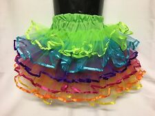 Girls Tutu skirt, Approx  6-10yrs, Ballet, Fairy Dress, Costume Rainbow Tulle