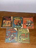 Vintage Antique 1934 Disney Mickey Mouse Wee Little Book Set