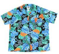 Hilo Hattie Mens Hawaiian Shirt Size XL Short Sleeve Button Up Bold Floral USA