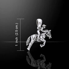 Horse with Jockey .925 Sterling Silver Pendant by Peter Stone