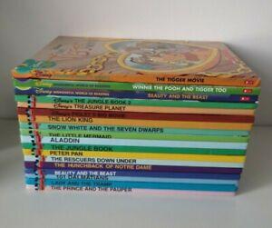 Walt Disney Wonderful World Of Reading Hardback  Books x 18