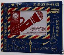 New York Bon Voyago Paris Recordable Photo Album Holds 10 Photos Acid Free NWT