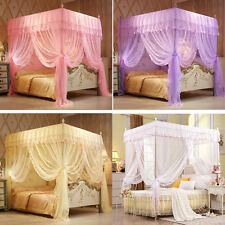 Princess Flowers Bed Canopy Mosquito Netting Twin Full Queen King Size 4 Colors & Twin Bed Netting u0026 Canopies | eBay
