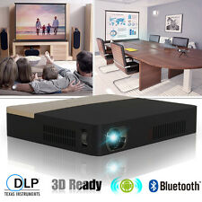 Mini DLP 3D Projector Home Theater Meeting Android Wifi Bluetooth HDMI USB SD US