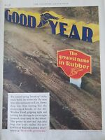1928 Goodyear The Greatest Name In Rubber Original Print Ad