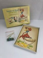 Moda Home Learn to Sew Lace Up Cards Sewing Cards Great Graphics Learning Crafts