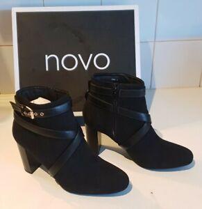 Novo Kind Boots Womens Black Size 8 High Heels Brand New