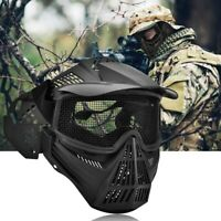 Full Face Steel Mesh Protective Tactic  Paintball Equipment  Competition