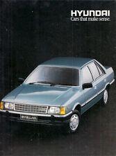 Hyundai Stellar 1987-88 UK Market Sales Brochure 1.6 L SL GSL